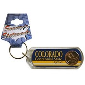 Colorado Keychain Lucite Lucky Penny