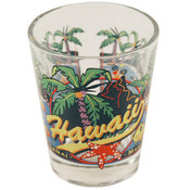 "Hawaii Shot Glass 2.25H X 2"" W 3 View"