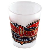 "North Carolina Shot Glass 2.25H X 2"" W Frosted Ban"
