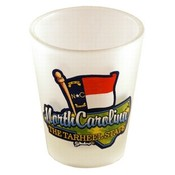 "North Carolina Shot Glass 2.25H X 2"" W Frosted Map"