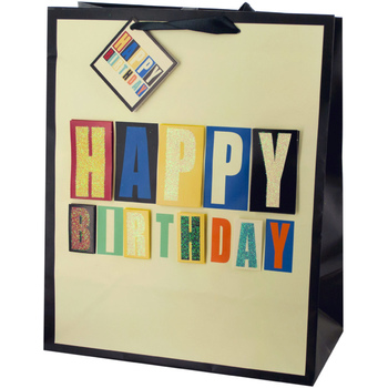 Wholesale Large Block Letter Birthday Gift Bag SKU 2315636 DollarDays