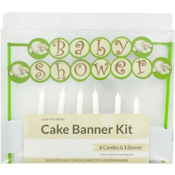 Baby Shower Cake Banner Amp Candles Kit
