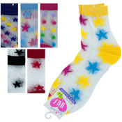 High Cut Stars Socks Size 6-8