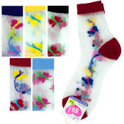 High Cut Butterfly Socks Size 6-8