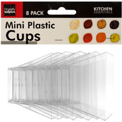 Clear Mini Plastic Condiment Cups Set