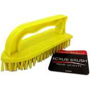 Iron-Shaped Scrub Brush with Handle