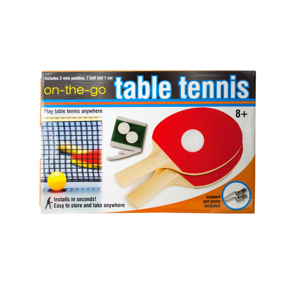 Portable Table Tennis Set Black White Green R image
