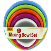 5-Pack Nesting Mixing Bowl Set