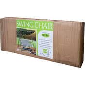 Canopied Green Striped Swing Chair