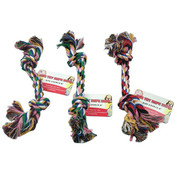Knotted Dog Rope Toy - Brown, White, Green, Blue, Red, Pink