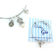 Gabby & Gia  Charm Bracelet: Queen of Hearts