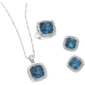 Aquamarine 3 Pc. CZ Set / Size 9