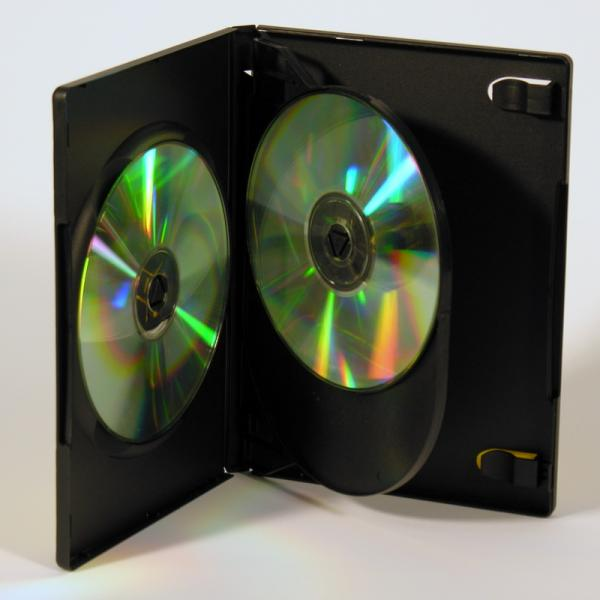 Black Multi-3 DVD Case