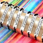 Stretch Bracelets with Inspirational Messages