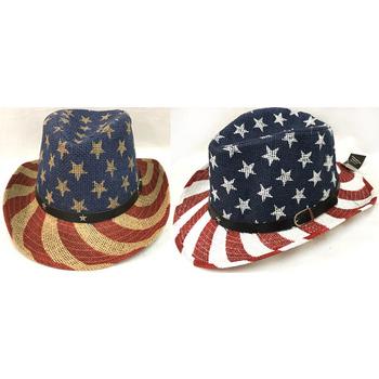 34b5c2a67ab30 Wholesale American Flag Stars Stripes Print Cowboy Hats (SKU 2266079 ...