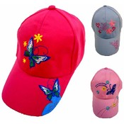 Girl's ButterfylEmbroidered Ball Hat