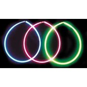 Solid Glow Necklaces-Assorted Colors in Each Tube.(Case of 50)