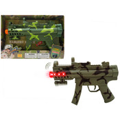 Toy Gun Battery Operated Vibrate with Light & Sound (Battery Included)11.5""