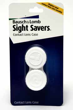 Wholesale Bausch & Lomb Sight Savers Contact Lens Case(24x$2.58) Sold in lots of 24 @ $2.58 each. Bausch and Lomb Sight Savers Contact Lens Case. 100% Recyclable, Heavy-duty plastic construction.