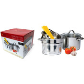 Stainless Steel Pasta Pot Set Cooker - 8qt