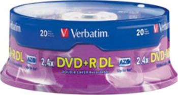2.4X Double Layer dvd+R - 20 Pack
