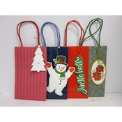 "Assorted Christmas Bags with Tag  - 5"" x 8"" x 3"""