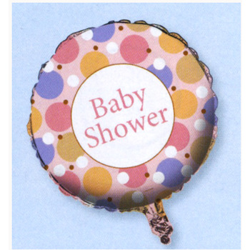 Baby Shower   Tiny Toes Pink Mylar Baloon