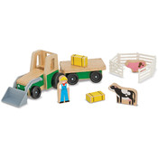 Melissa & Doug Farm Tractor Playset