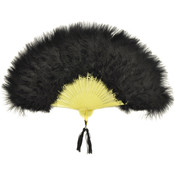 Costume Accessory: Fan Marabou Feather | Black