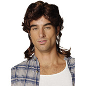 Costume Accessory: Mullet Wig Brown