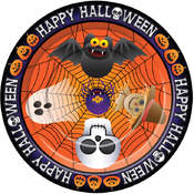 wholesale halloween decorations happy halloween plates 9 pack