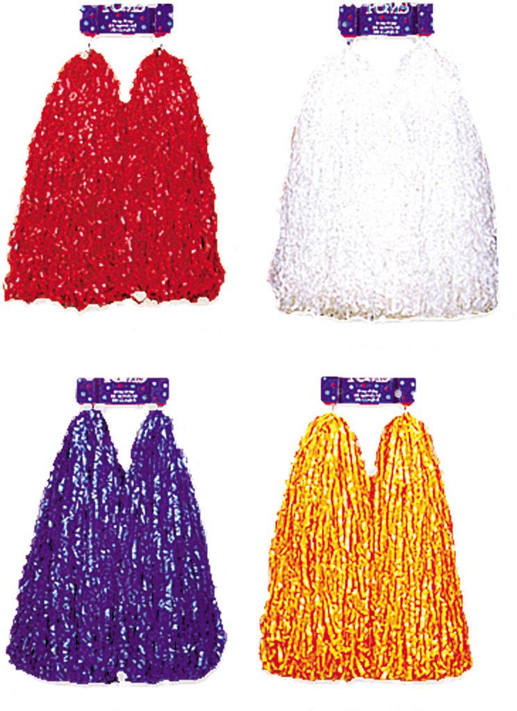 Wholesale Pom Poms Plastic Red Cheer Sku 569024 Dollardays