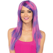 Costume Accessory: Wig Long Striped Cheshire Cat