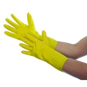 Yellow Household Latex Gloves Small
