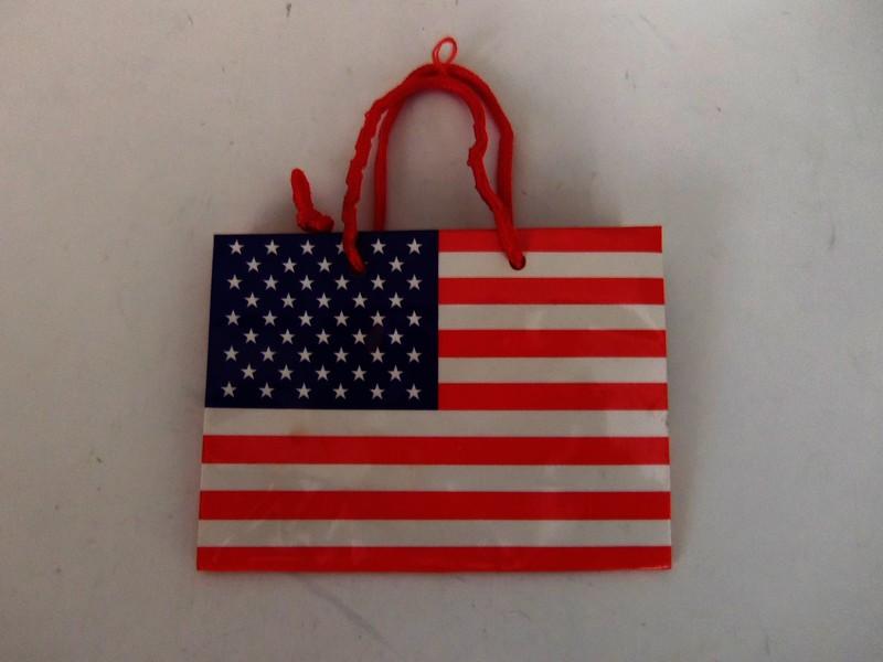 Wholesale Gift Bag American Flag Small Sku 1037001
