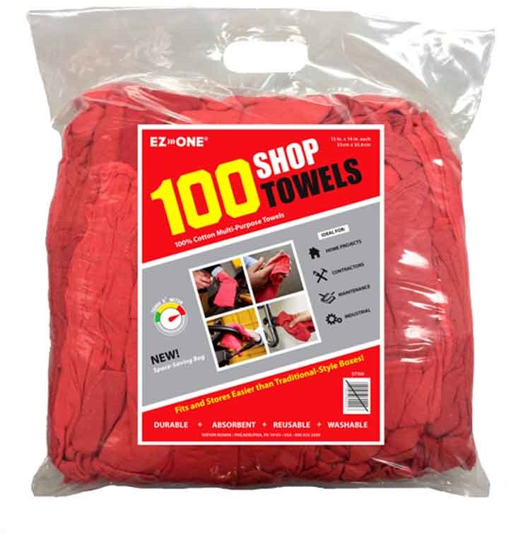 Wholesale Red Shop Towels 100 Pack Sku 2169047 Dollardays