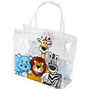 Zoo Animals Vinyl Tote Bag