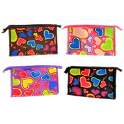 Valentine's Day Satin Cosmetic Pouch Make Up Bag