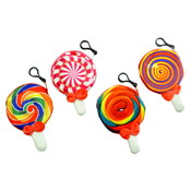 "4"" Lollipop Fabric Coin Purse Clip On"