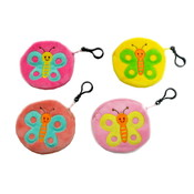 "4"" Butterfly Design Coin Purse Clip On"