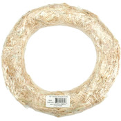 "Straw Wreath 10""-Natural"