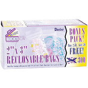 Reclosable  2-Inch x 3-Inch Plastic Bags, 300-Pack