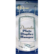 "White Decorative Plate Display Hanger - 10"" to 14"""