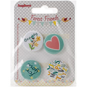 ScrapBerry's Forest Friends Metal Embellishments-For You