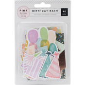 Birthday Bash Ephemera Die-Cuts 40/Pkg-W/Copper Foil