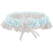 Lace Garter-Light Blue