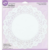 "Greasproof Doilies White Circle 10"" - 10 Ct"