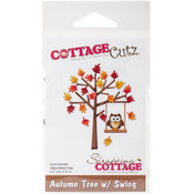 "CottageCutz Die-Autumn Tree W/Swing, 2.2""X2.6"""