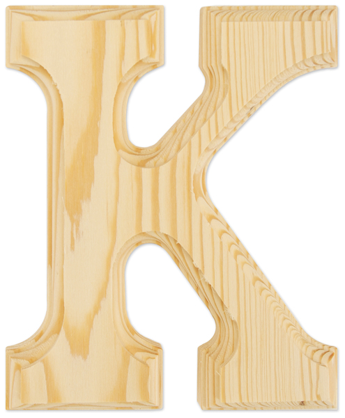 large wooden letters cheap wood letters 6 quot letter k sku 637457 dollardays 22698 | 350415