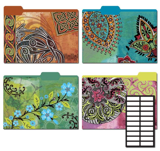 Wholesale Decorative File Folders 8 Pkg Mystique Sku